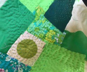 Green patchwork