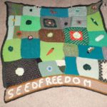 Patchwork of environmental knitted designs